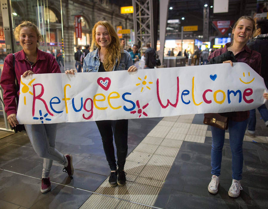 Refugees welcome - Humanismus